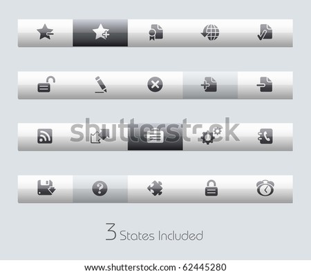 Web Site & Internet Plus // Classic Series +++ It includes 3 buttons states in different layers. +++ - stock vector