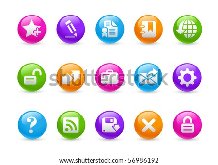 Web Site & Internet Plus // Rainbow Series - stock vector