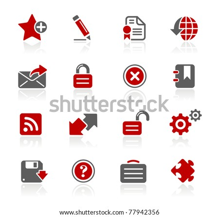 Web Site & Internet Plus // Redico Series - stock vector