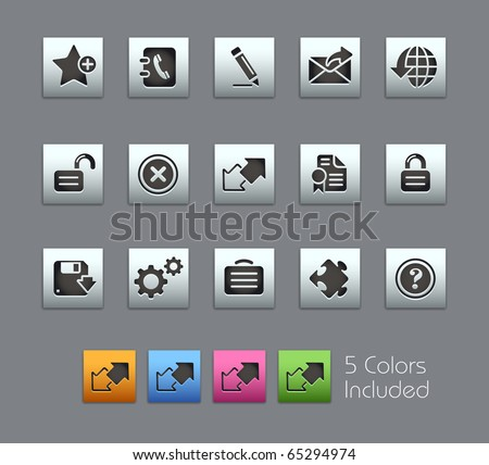 Web Site & Internet Plus // Satinbox Series -------It includes 5 color versions for each icon in different layers --------- - stock vector