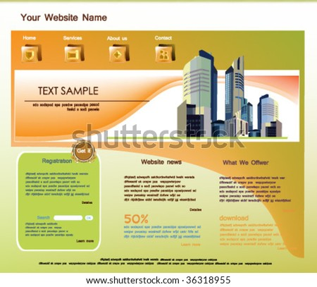 web site template, vector