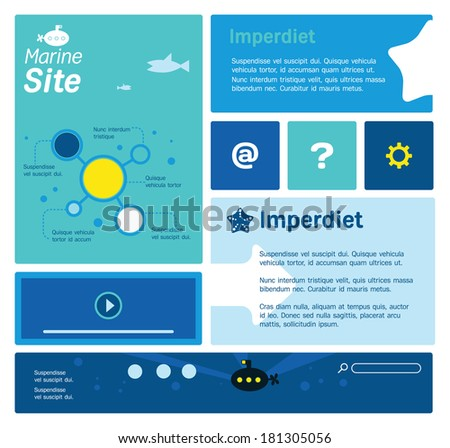 Web site template with marine thematics. Built for responsive design