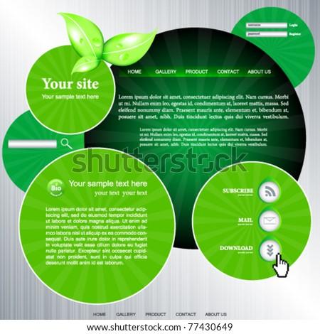 Web site vector design template - stock vector