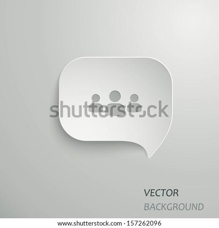 Web Speech Bubbles - stock vector