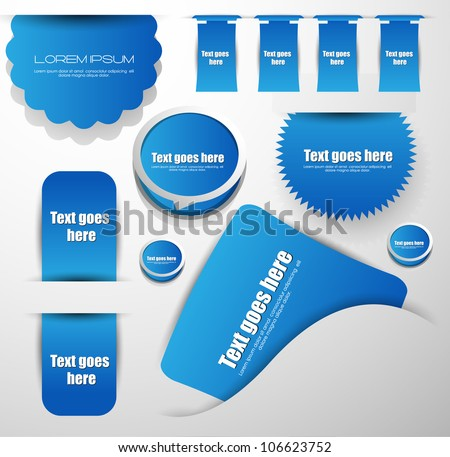 web stickers labels and badges - stock vector