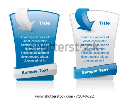 Web style elements with arrow and place for text - stock vector