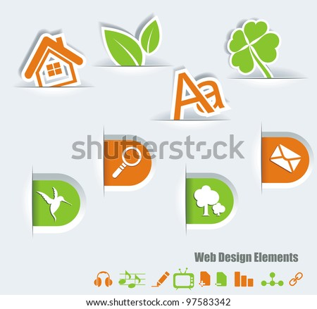 Web symbols set - stock vector
