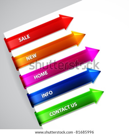 Web tags. - stock vector