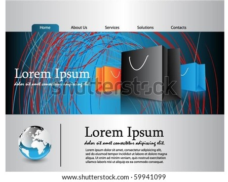web template - stock vector