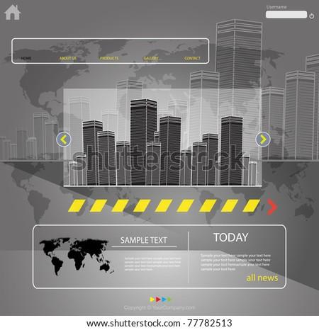 web template city vector, more visit my portfolio - stock vector