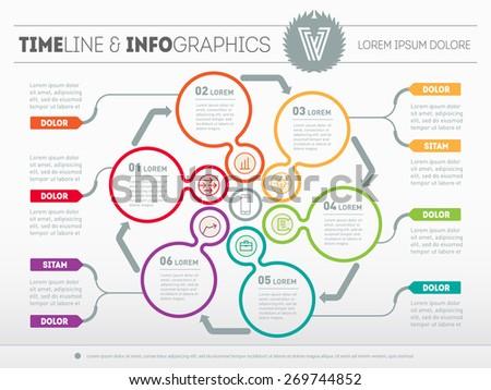 Web Template Circle Diagram Presentation Business Stock Vector ...