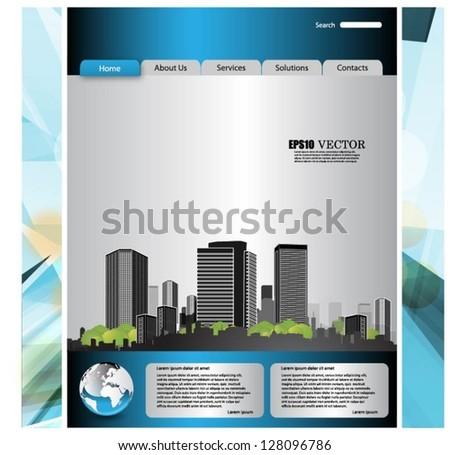 Web template-vector - stock vector