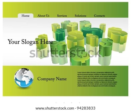 web template vector design - stock vector