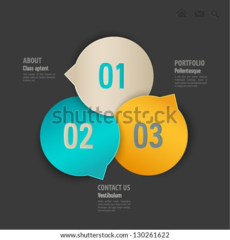 Web template. Vector illustration. - stock vector