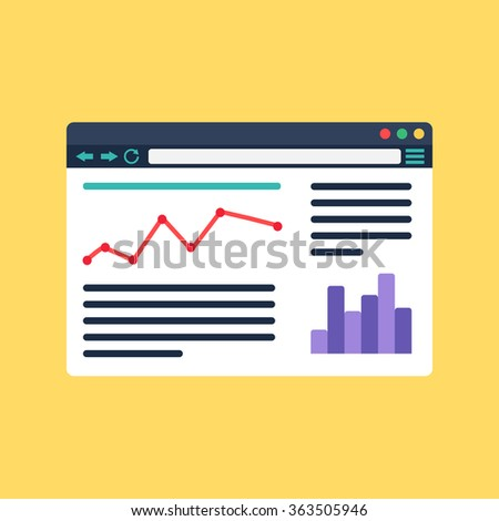 Web Template, Web Elements for site of blog and infographics. Vector - stock vector