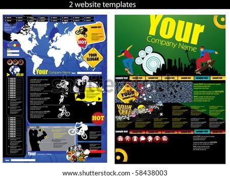 Web templates - stock vector