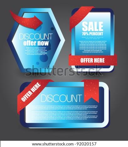Web Templates Sale Advertisement Stock Vector Shutterstock - Web templates for sale
