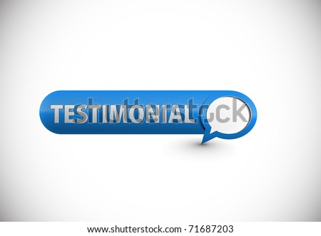 web testimonial icon design element. - stock vector