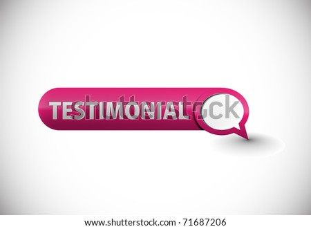web testimonial icon design element. - stock vector