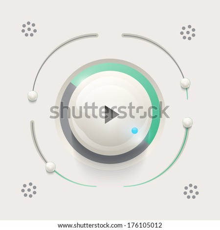 Web UI Elements music player or controls design. - stock vector