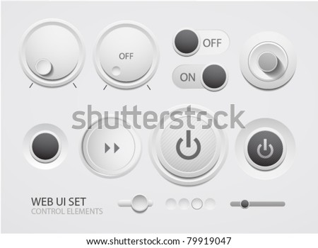 Web user interface design elements - stock vector