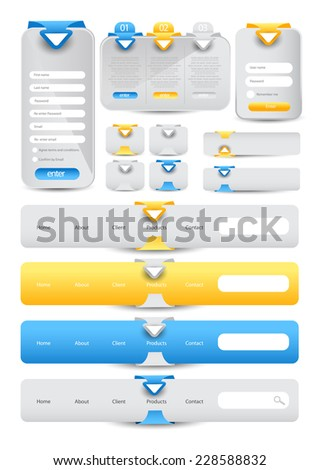 Web User Interface Element Set. vector