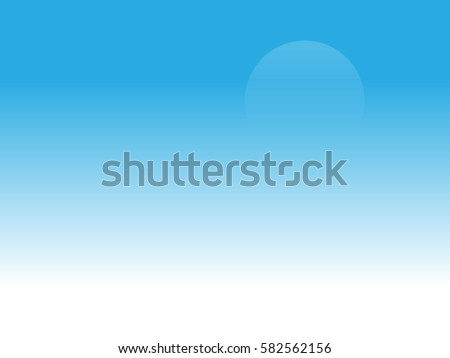 Web Vector Blue And White Sky With Moon Ombre Background