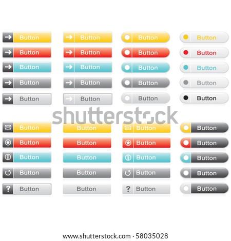 Web vector buttons - stock vector