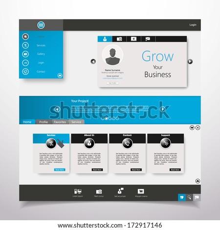 Web Website Element Design Template Vector  - stock vector