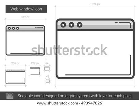 Cartoon Home Window Isolated On White Stock Vector 94276576 ...