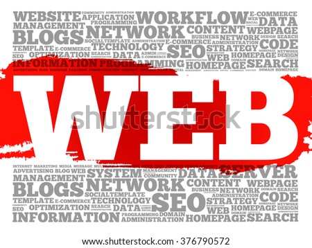 WEB word cloud, business concept - stock vector