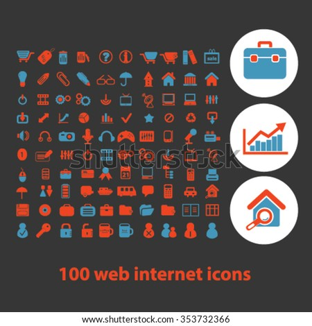 web work, business, home office, supplies, icons, signs vector concept set for infographics, mobile, website, application