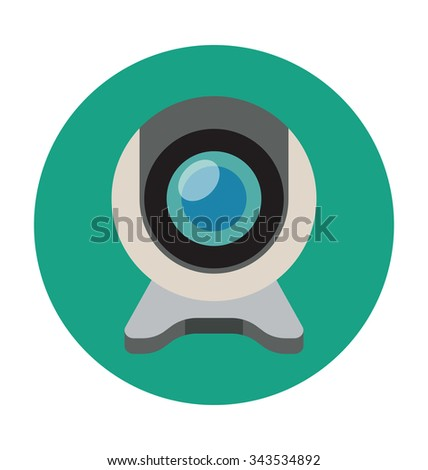 Webcam Colored Vector Illustration