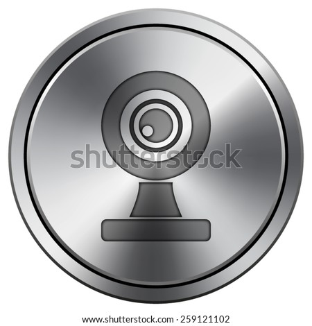 Webcam icon. Internet button on white background. EPS10 Vector.  - stock vector
