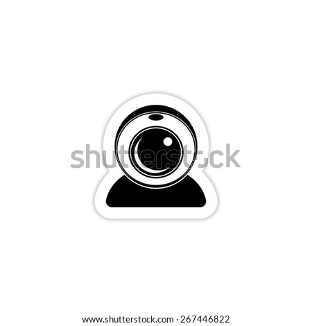 webcam icon on a white background with shadow  - stock vector