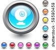 Webcam  metallic vibrant round icon. - stock vector