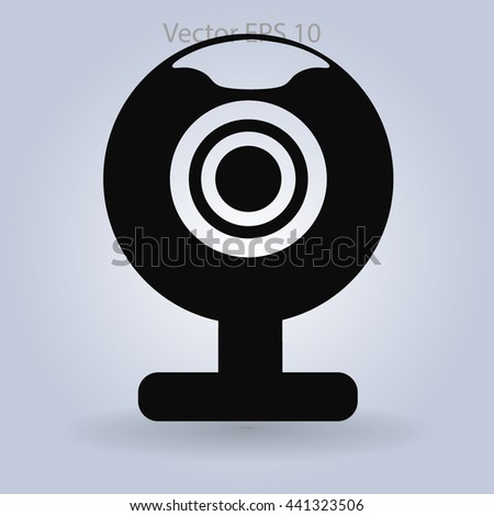 Webcam mini vector icon