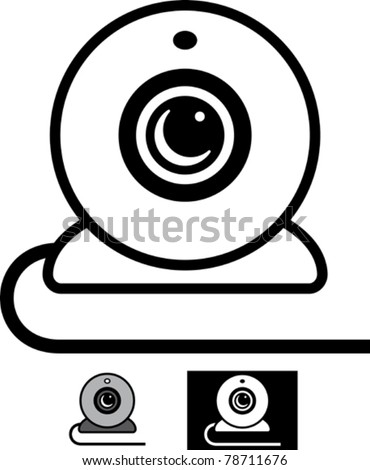 Webcam - Simple vector illustration - stock vector