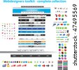 Webdesigners toolkit - complete collection - stock vector