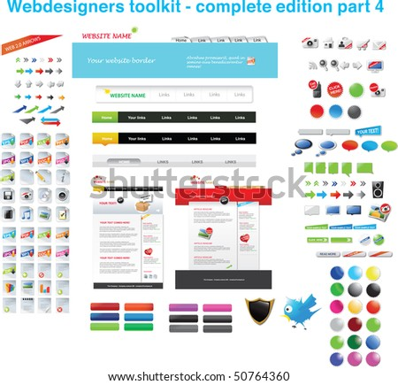Webdesigners toolkit - complete edition part 4 - stock vector