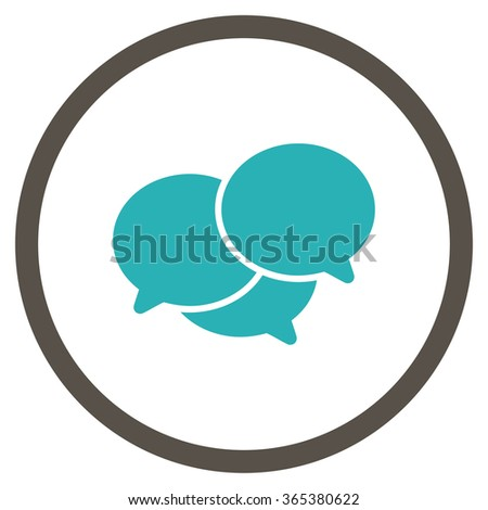 Webinar vector icon. Style is bicolor flat circled symbol, grey and cyan colors, rounded angles, white background. - stock vector