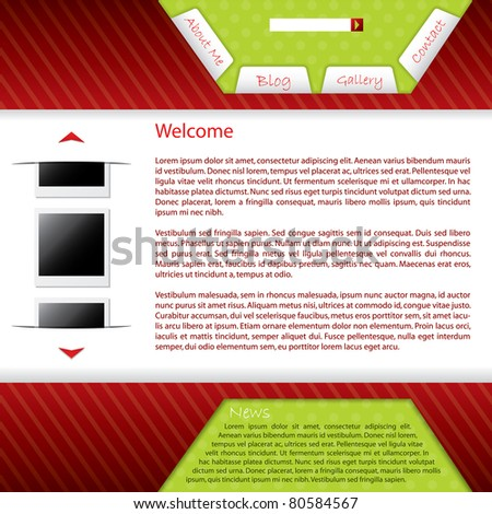 Webpage design for your blog site - stock vector
