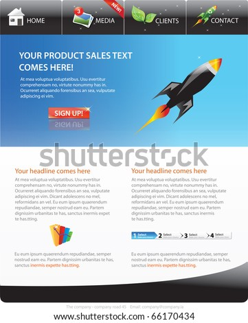 Webpage template - stock vector
