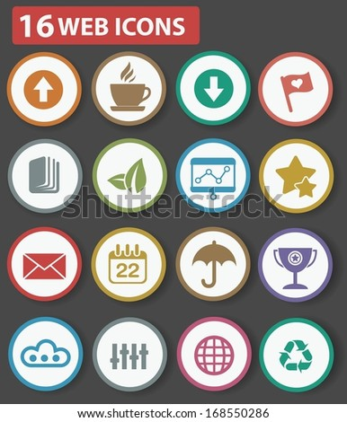 Website and business icons,Colorful version - stock vector