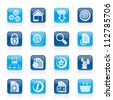 Website and internet icons - vector icon set - stock photo