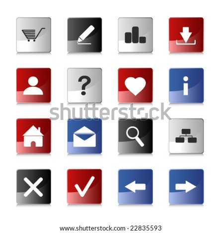 Website and Internet Icons (vector illustration)