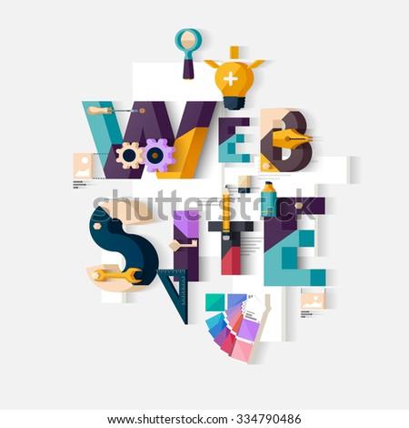 Website concept. Typographic poster. - stock vector
