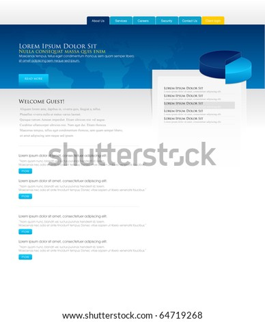 Website design Business Template - stock vector