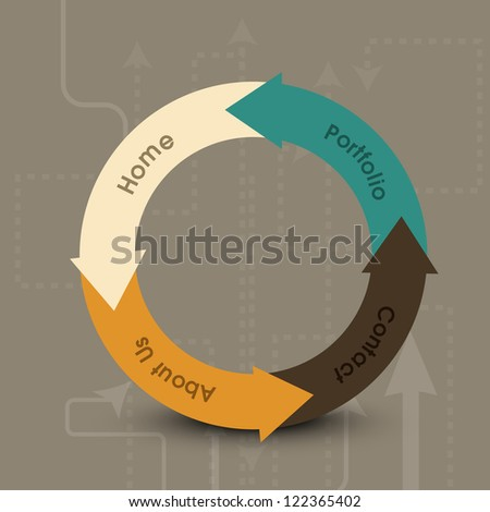 Website design draft.  EPS 10. - stock vector