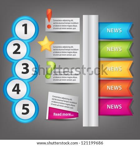 website design elements - stock vector
